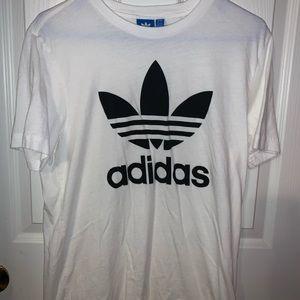 White Medium men's adidas T-shirt